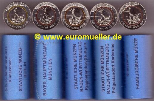 Wwweuromuellerde Rollensatz 5 Euro Gedenkmünze Deutschland 2018