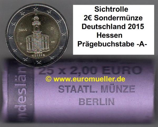 Wwweuromuellerde Rolle 2 Euro Sondermünze Deutschland 2015
