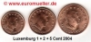 Luxemburg 1 + 2 + 5 Cent 2004 lose